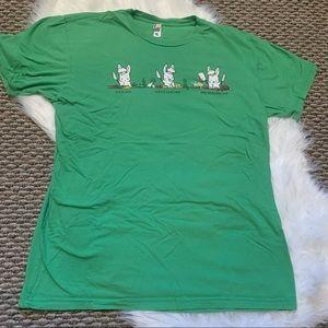 Woot Tshirt Meatatarian Bunny Rabbit Top Size L